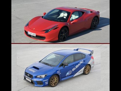 Ferrari vs Subaru