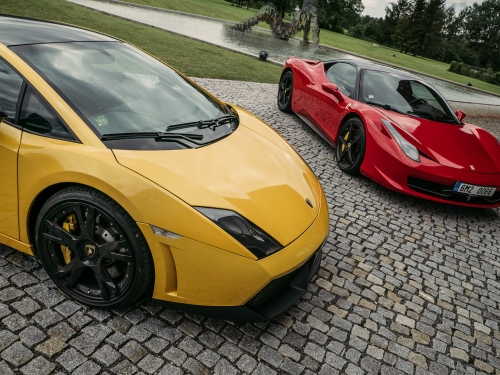 Ferrari vs Lamborgini  Brno